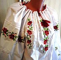 Блуза-вышиванка Розы размер 50-52