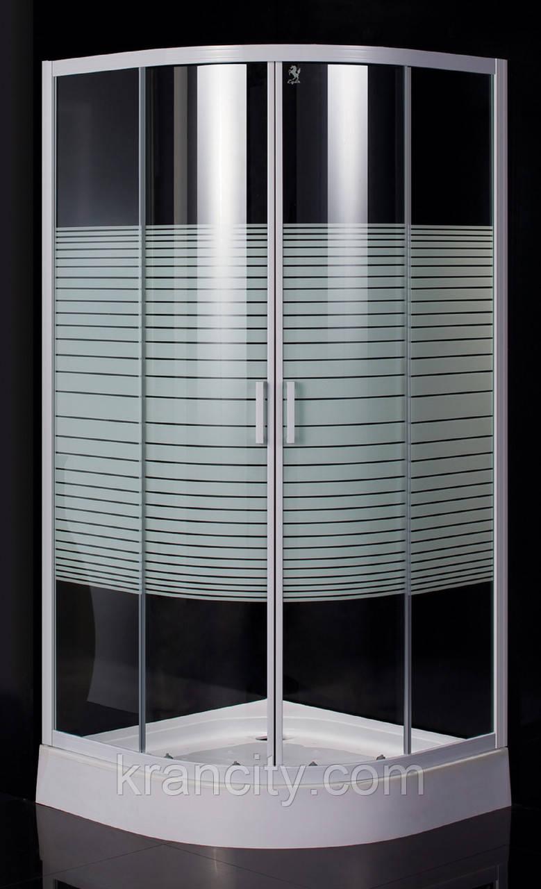 """Душевая кабина 90*90*200 см, на мелком поддоне, стекло """"Frizek"""" EGERTISZA 599-021-A"""