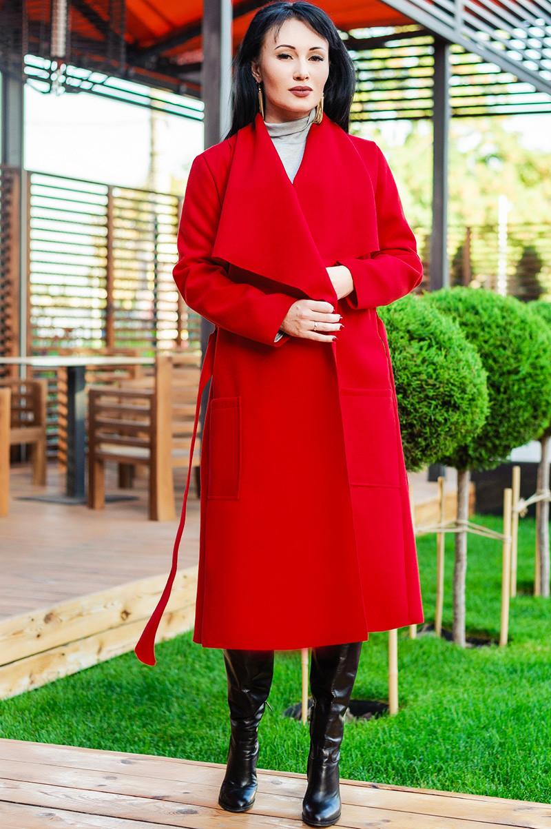 """Красное женское пальто *БАРСЕЛОНА"""" от производителя"""