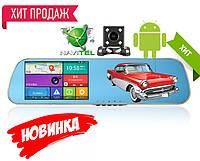 """Автомобильный видеорегистратор зеркало D22  5"""" сенсор, 2 камеры, GPS навигатор, WiFI, 8Gb, Android, фото 1"""
