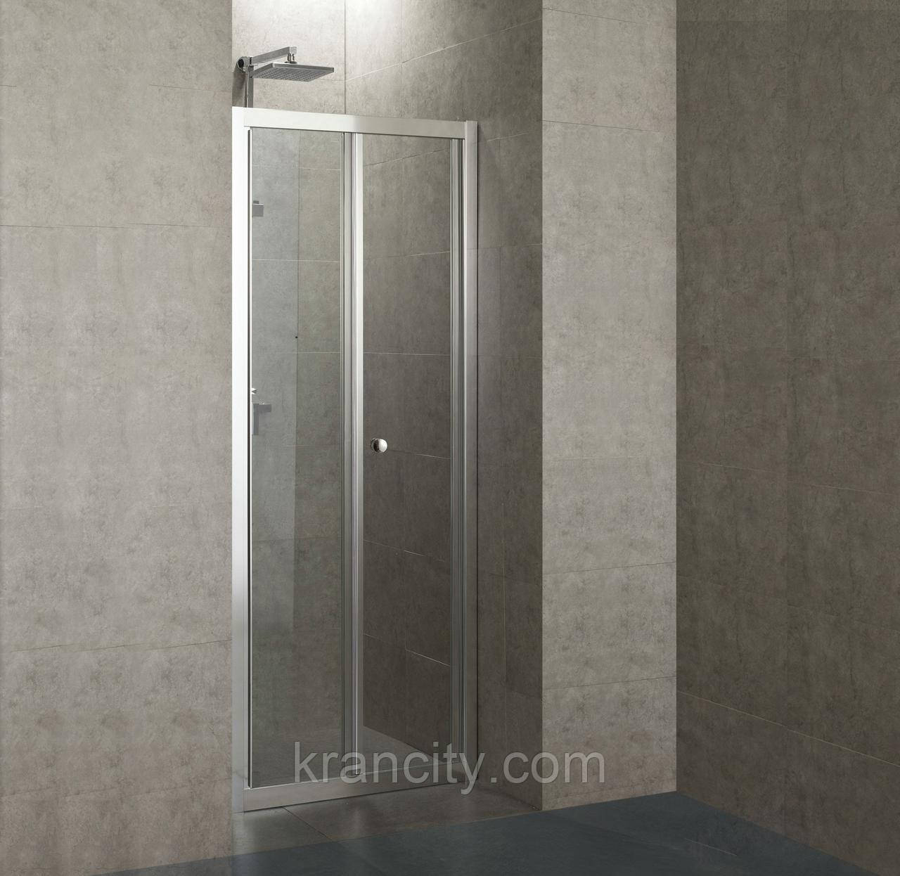 Двері душова bifold 80*185 прозора EGER 599-163-80