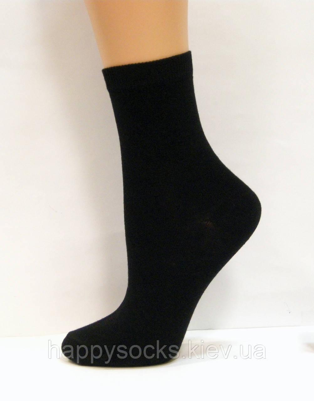 Детские хлопковые высокие носки для мальчиков черного цвета