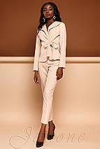 Женский деловой костюм с жакетом и укороченными брюками (Эллери jd), фото 2