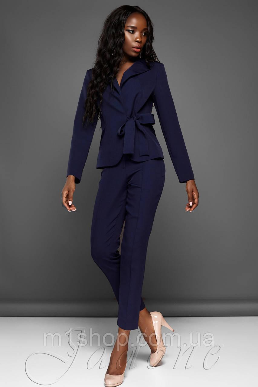 Женский деловой костюм с жакетом и укороченными брюками (Эллери jd)