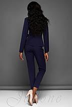 Женский деловой костюм с жакетом и укороченными брюками (Эллери jd), фото 3