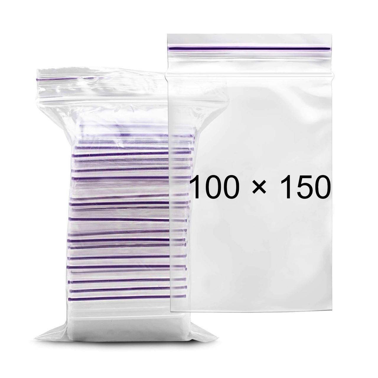 Пакеты с замком Zip-Lock - 100 × 150