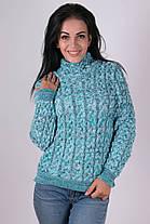 Теплый вязаный свитер  42-48, фото 2