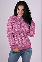 Теплый вязаный свитер  42-48, фото 3