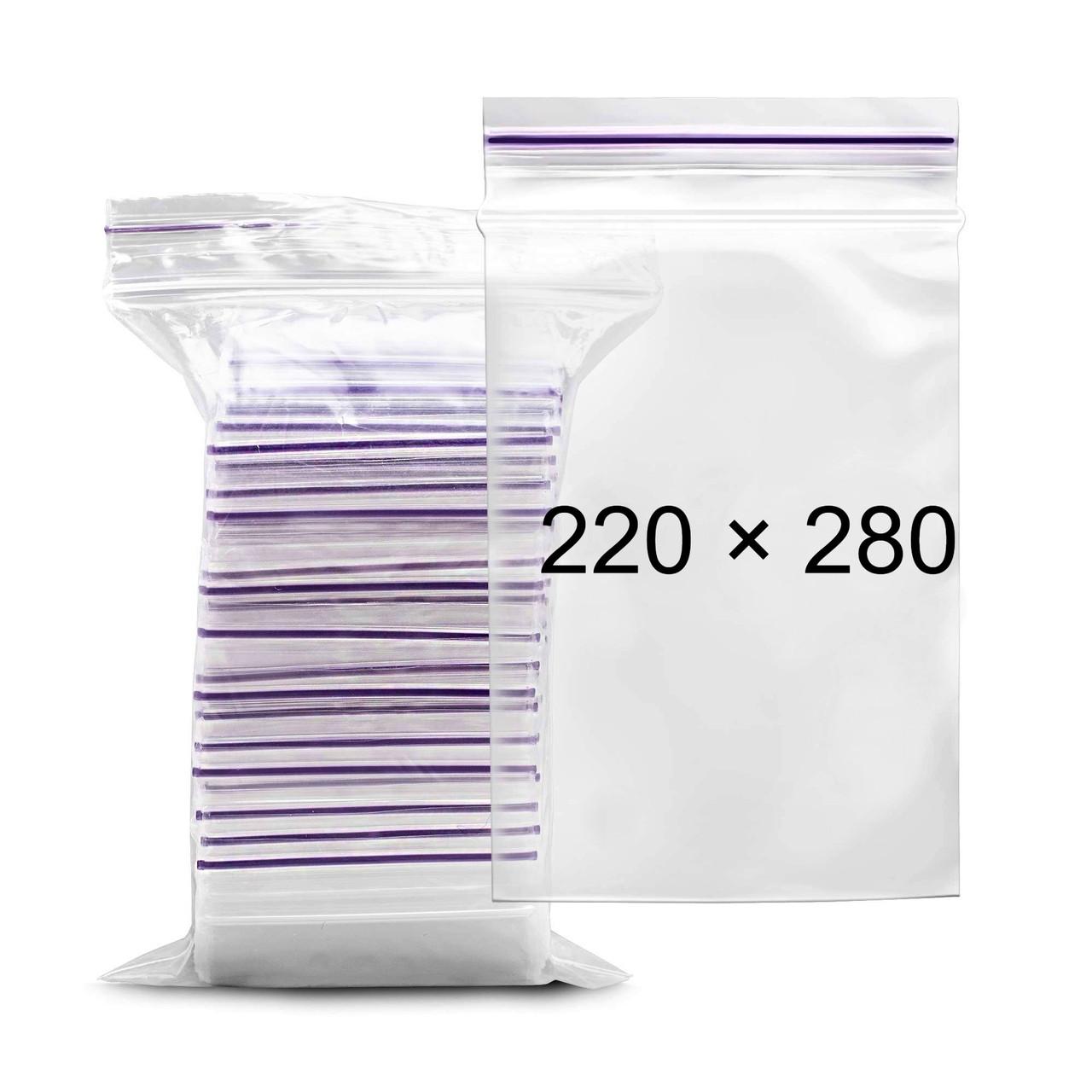Пакеты с замком Zip-Lock - 220 × 280