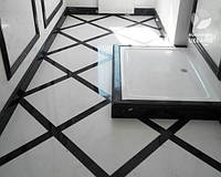 Мармурова підлога (Polaris+Negro Marquina)