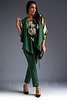 Женский костюм тройка Likara большого размера / костюмка, суперсофт / Украина 32-720, фото 1