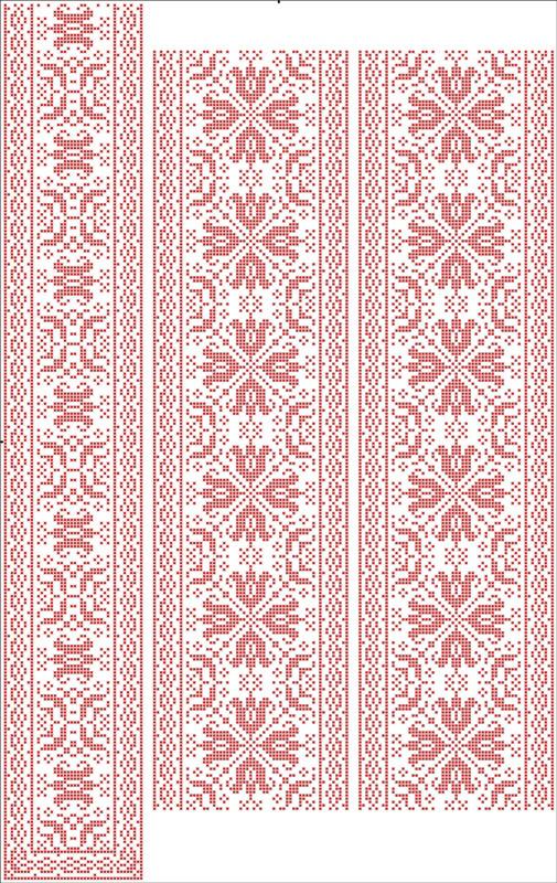 ФВЛ-150. Схема на водорозчинному флізеліні для вишивки нитками (хрестиом № 14)