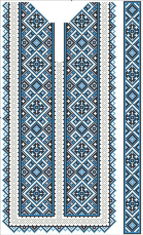 ФВЛ-151. Схема на водорозчинному флізеліні для вишивки бісером та нитками.