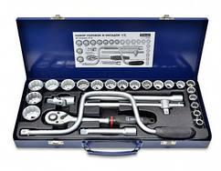 """Набір головок та насадок 1/2""""(10-32 мм),з комірчиком""""Кобра"""",CR-V,Konner,52-255,"""