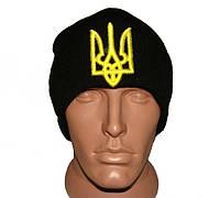 Черная шапка с украинской символикой Герб