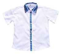 Вышитая рубашка для мальчика с коротким рукавом., фото 1