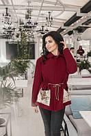 Пальто без подклада с карманами из пайетки / кашемир иск. / Украина 36-3762, фото 1