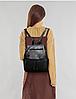 Рюкзак городской черный с клапаном, фото 9