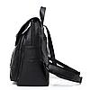 Рюкзак городской черный с клапаном, фото 4