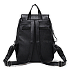 Рюкзак городской черный с клапаном, фото 3