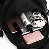 Рюкзак городской черный с клапаном, фото 5