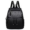 Рюкзак городской черный с клапаном, фото 2