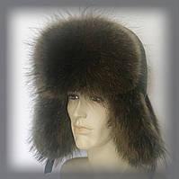 Мужская меховая шапка из Енота (объёмная)