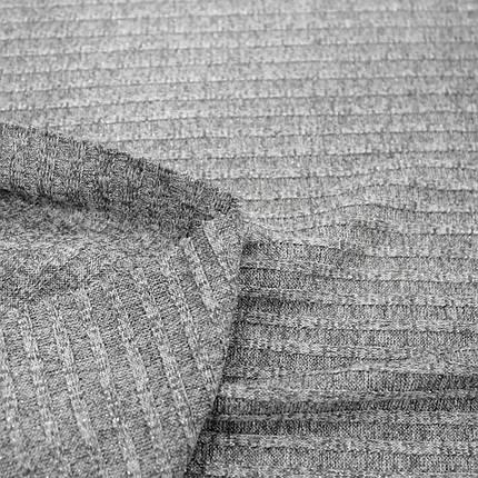 Трикотаж ангора полоска люрекс светло-серая, фото 2