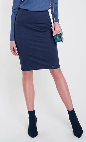 Женская трикотажная юбка темно-синего цвета. Модель Stella Zaps. Коллекция осень-зима 2018-2019