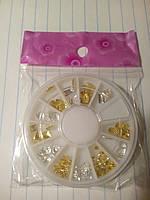 Набор металлические фигурки золото/серебро в каруселе