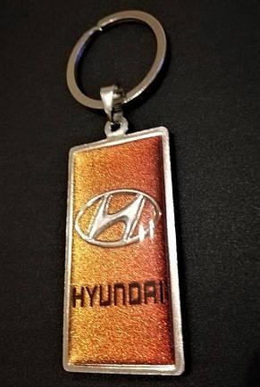 Автомобильный брелок HONDA (металлический со вставкой), фото 2