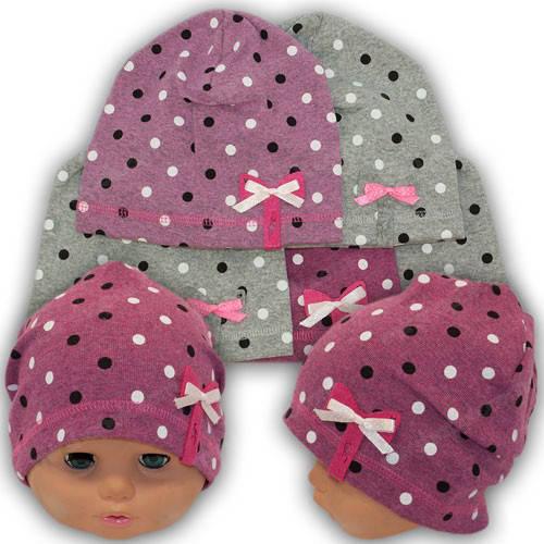 Трикотажная шапка для девочек, р. 42-44