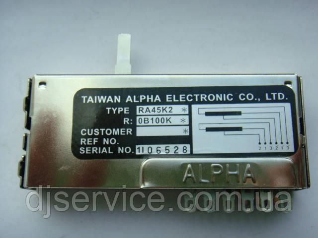 Фейдер ALPHA RA45K2 длиной 75мм для пультов NI Traktor Kontrol Z2
