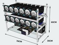 Майнер (Ферма) GPU на 12 Видеокарт RX 470 4g (Sapphire_rx470_4g_x12)