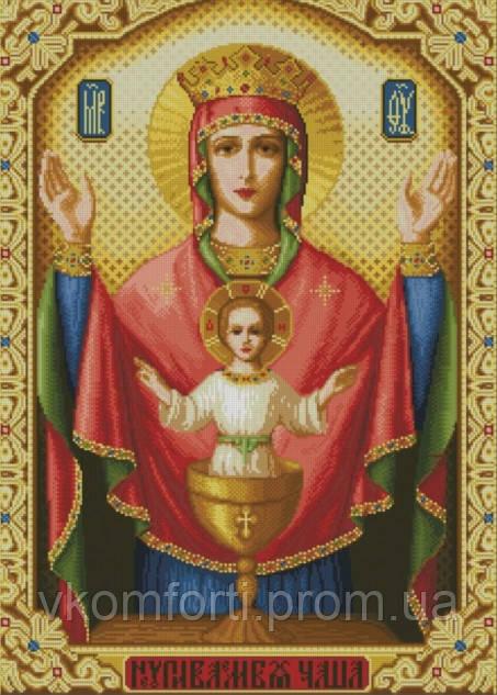 Набор для мозаики камнями Икона Неупиваемая чаша 55х77,5см