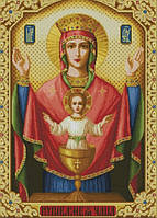 Набор для мозаики камнями Икона Неупиваемая чаша 55х77,5см, фото 1