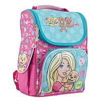Ранец (рюкзак) - каркасный школьный для девочки розовый Барби, H-11 Barbie mint, 553265