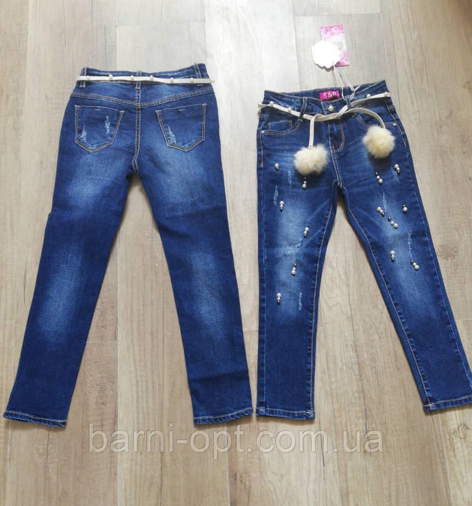Джинсовые брюки на девочку оптом, S&D, 8-18 рр.