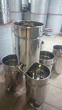 Бак (отстойник) для фасовки меда нержавеющий 20л кран алюминиевый