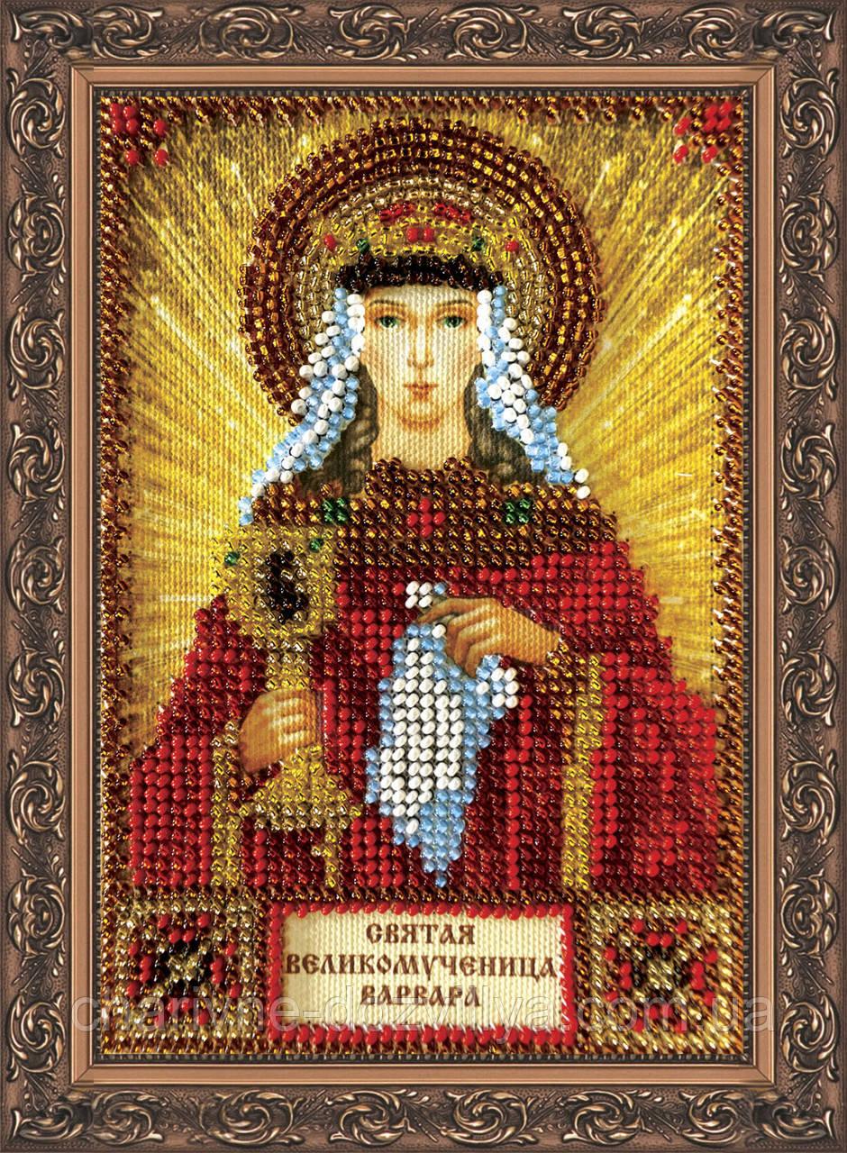 Набор для вышивки бисером икона Святая Варвара