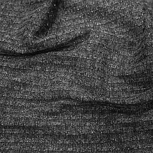 Трикотаж ангора полоска люрекс темно-серая