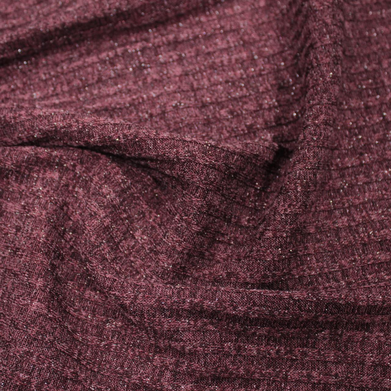 55d4bb9f42e9 Трикотаж ангора полоска люрекс бордовая - Tkani-Color магазин тканей опт и  розница Украина в