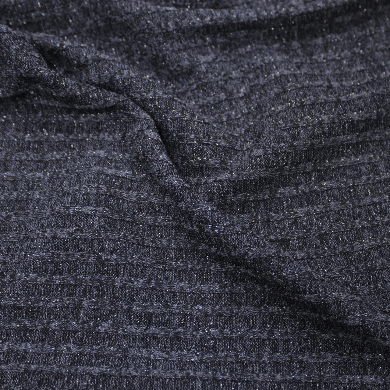 Трикотаж ангора полоска люрекс темно-синяя