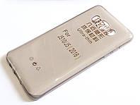 Чохол для Samsung Galaxy J5 J510 (2016) силіконовий ультратонкий прозорий сірий