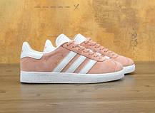 Жіночі кросівки Adidas Gazelle Pink/White, фото 2