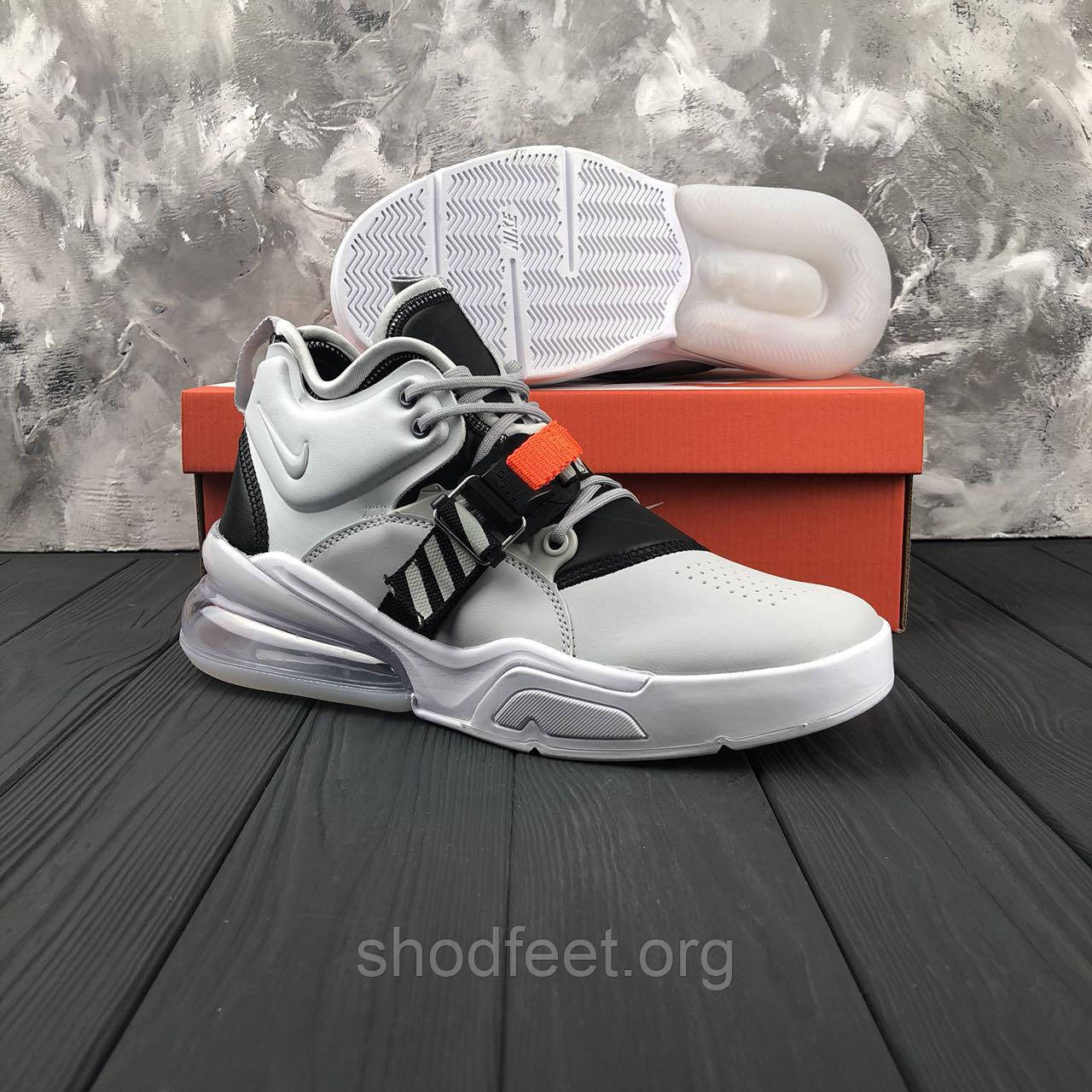 Мужские кроссовки Nike Air Force 270 Wolf Grey/White/Dark