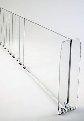 Т-разделитель прозрачные разделители для полок+ с насечками, высота 120 мм, длина 385-585 мм. б/у