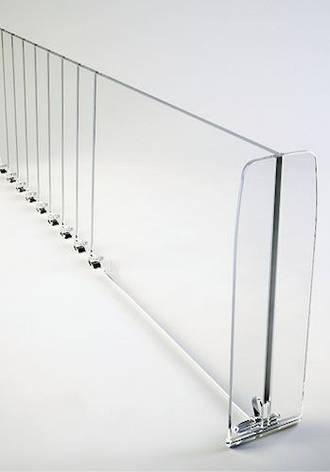 Т-разделитель прозрачные разделители для полок+ с насечками, высота 120 мм, длина 385-585 мм. б/у, фото 2