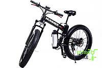 Велосипед фэтбайк на складной раме черного цвета бренда HUMMER мощностью 500 Вт