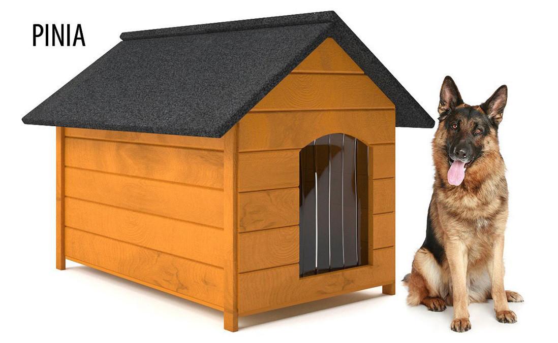 Дерев'яна будка для собаки